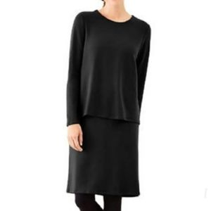 Pure J Jill | Black Luxe Tencel Long Sleeve Dress